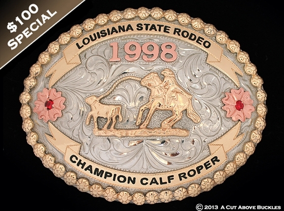 louisiana state rodeo trophy buckle